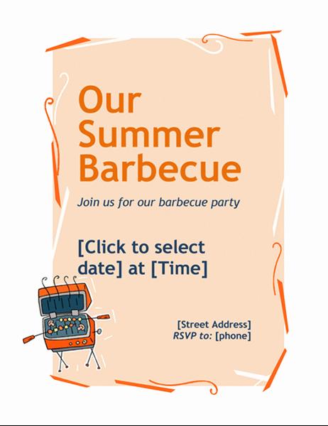 Bbq Fundraiser Flyer Templates Free Lovely Bbq Invitation Flyer