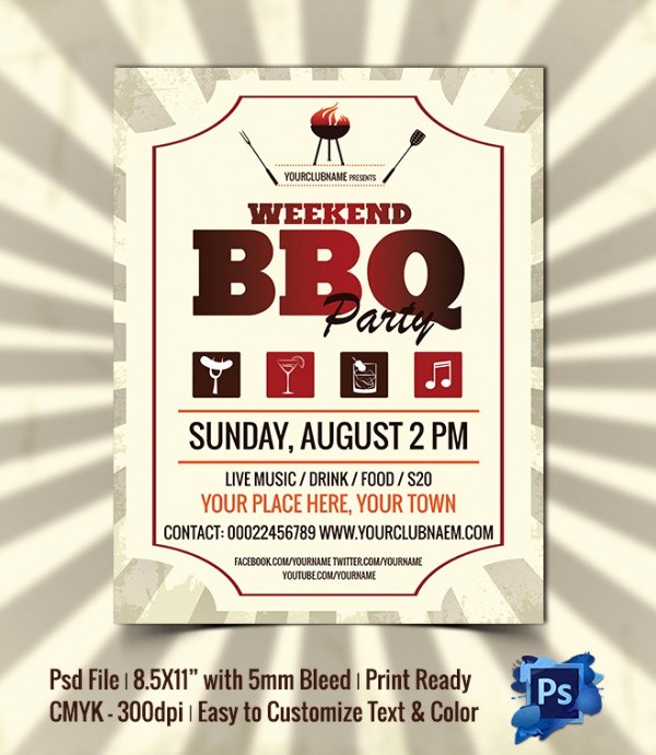Bbq Fundraiser Flyer Templates Free Luxury Sample Invitation Template Download Premium and Free