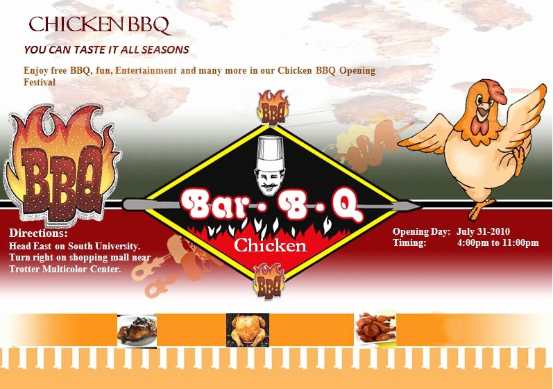 Bbq Fundraiser Flyer Templates Free New Chicken Bbq Flyer Template