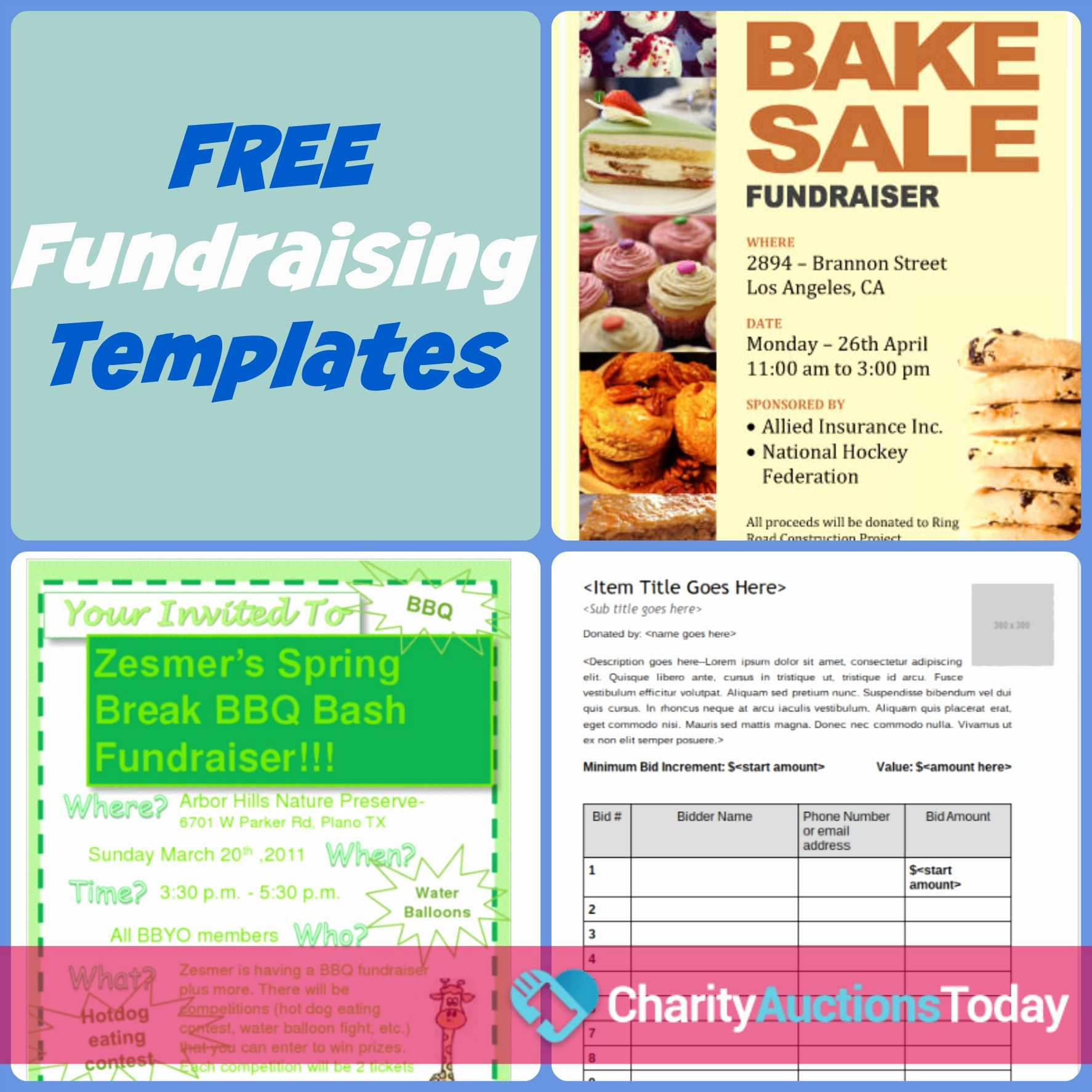 Bbq Fundraiser Flyer Templates Free New Free Fundraiser Flyer