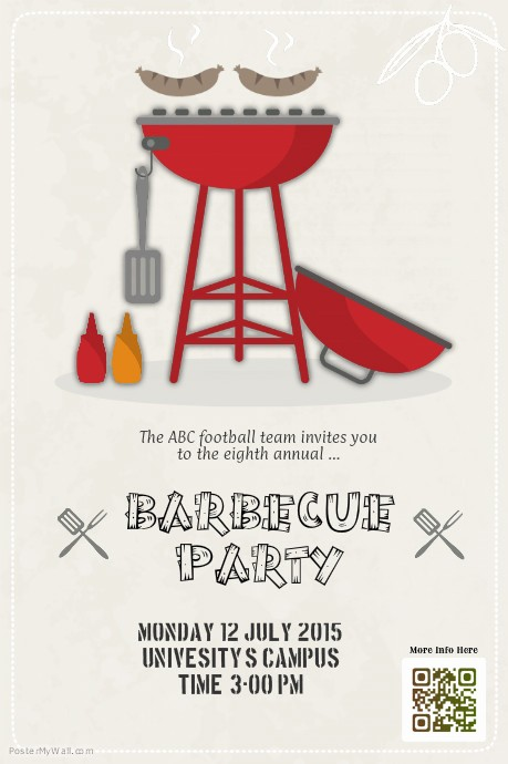 Bbq Fundraiser Flyer Templates Free Unique Barbecue Party Flyers Template