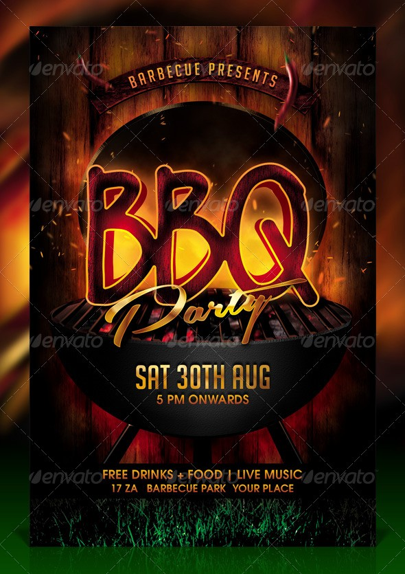 Bbq Fundraiser Flyer Templates Free Unique Bbq Barbecue Party Flyer Template by Dilanr