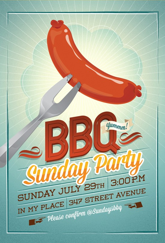 Bbq Fundraiser Flyer Templates Free Unique Bbq Party Flyer Invitation by Hitomodachi On Deviantart