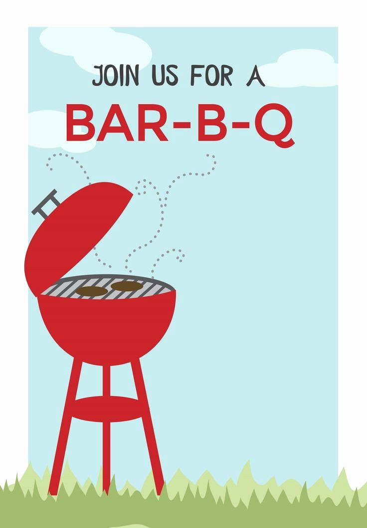 Bbq Party Invitation Templates Free Beautiful Bbq Cookout Free Printable Bbq Party Invitation Template
