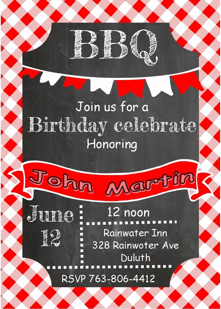 Bbq Party Invitation Templates Free Beautiful Free Simple Birthday Party Invitations Printable