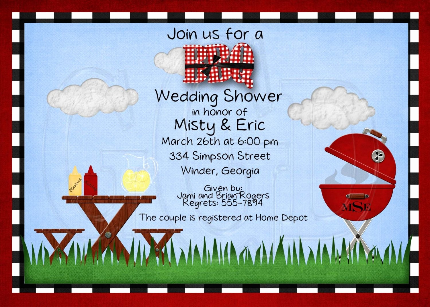Bbq Party Invitation Templates Free Best Of Bbq Shower Birthday or Retirement Party Invitation Digital