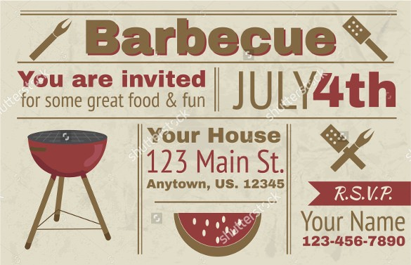 Bbq Party Invitation Templates Free Elegant 30 Barbeque Invitation Templates Psd Word Ai