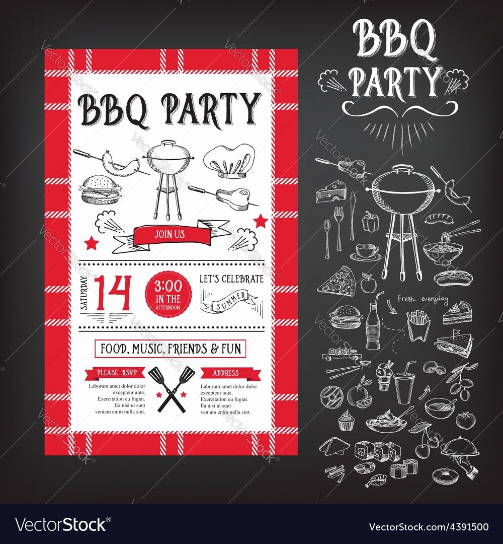 Bbq Party Invitation Templates Free Elegant Barbecue Party Invitation Bbq Template Menu Design