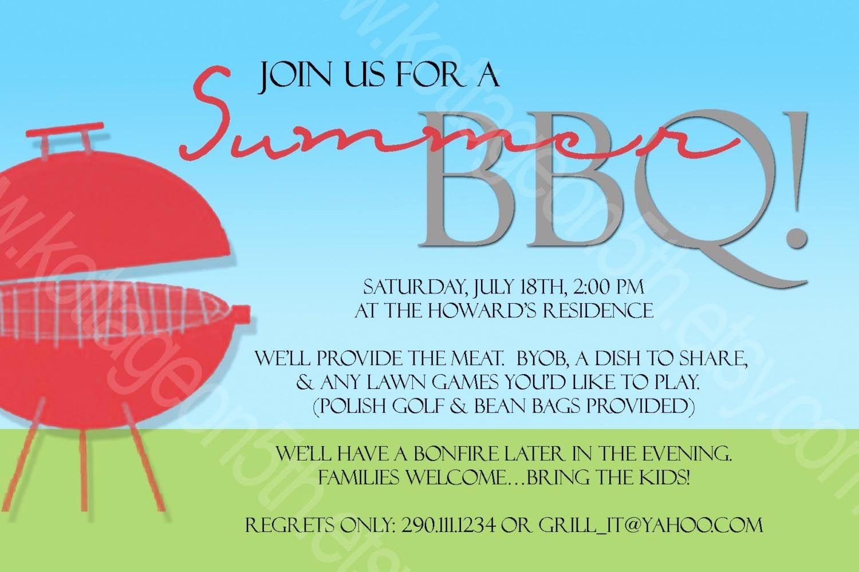 Bbq Party Invitation Templates Free Elegant Bbq Party Invitation Wording Ideas