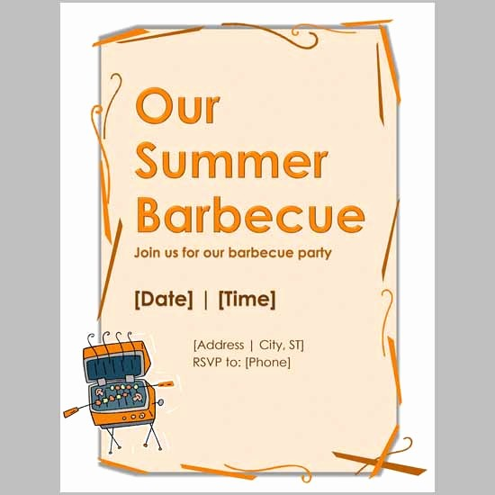 Bbq Party Invitation Templates Free Elegant Party Invitation Template Download In Psd Pdf