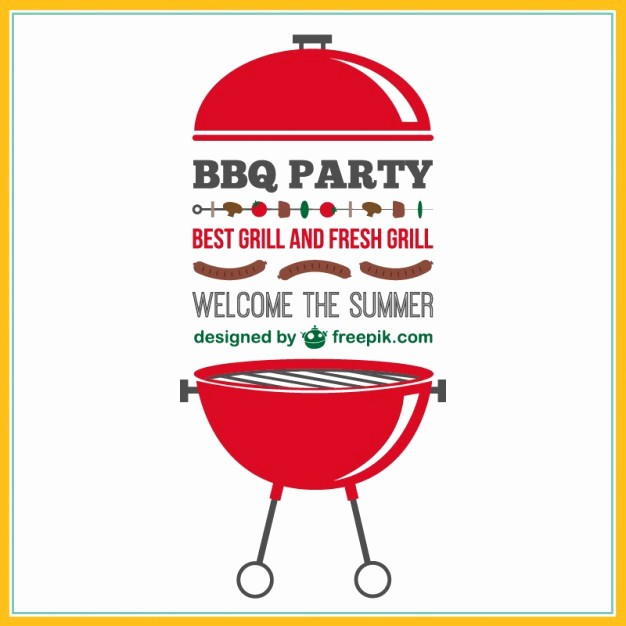 Bbq Party Invitation Templates Free Fresh Barbecue Party Vector Invitation Vector