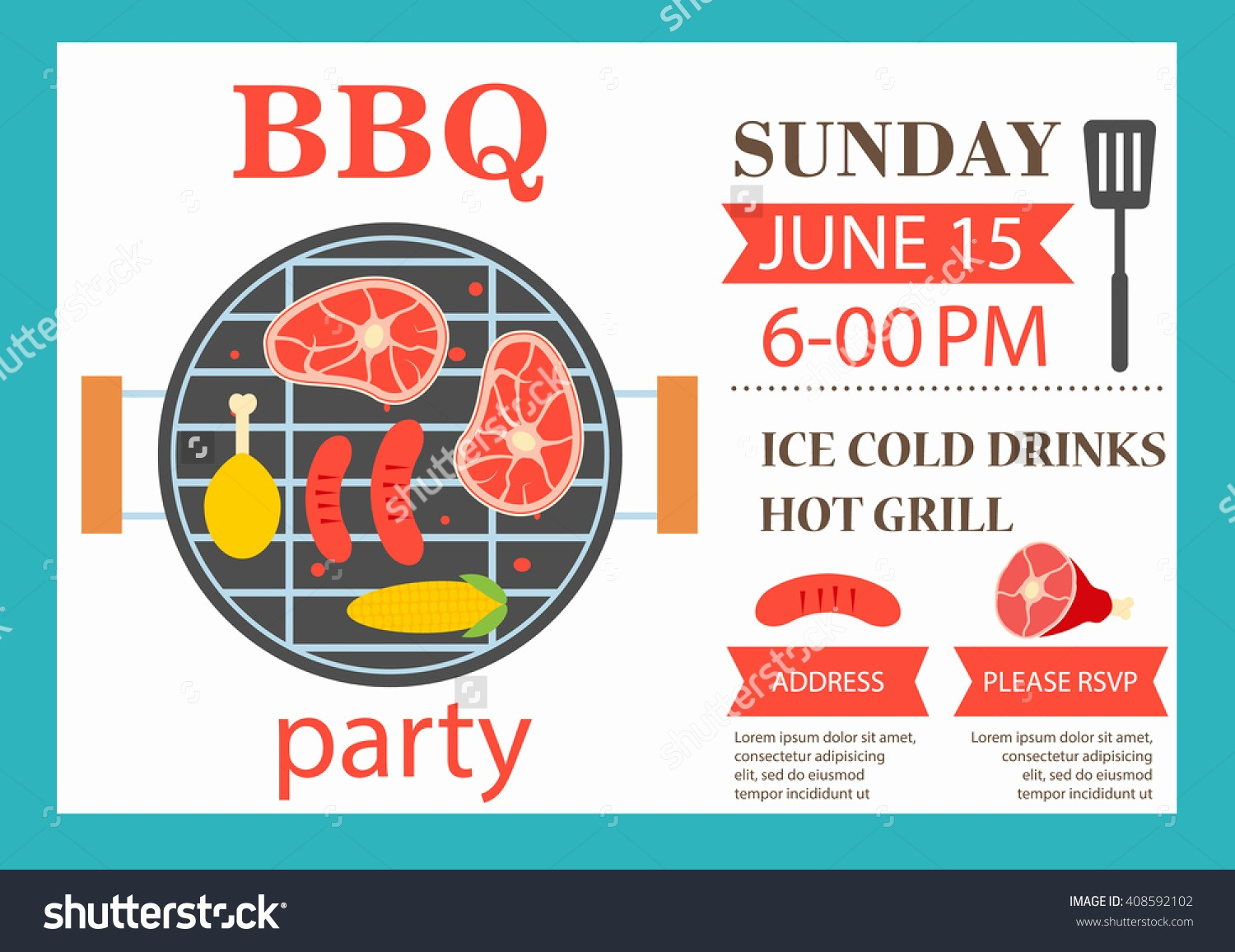Bbq Party Invitation Templates Free Inspirational Party Invitation Flyer