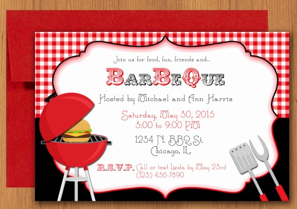 Bbq Party Invitation Templates Free Lovely 30 Barbeque Invitation Templates Psd Word Ai