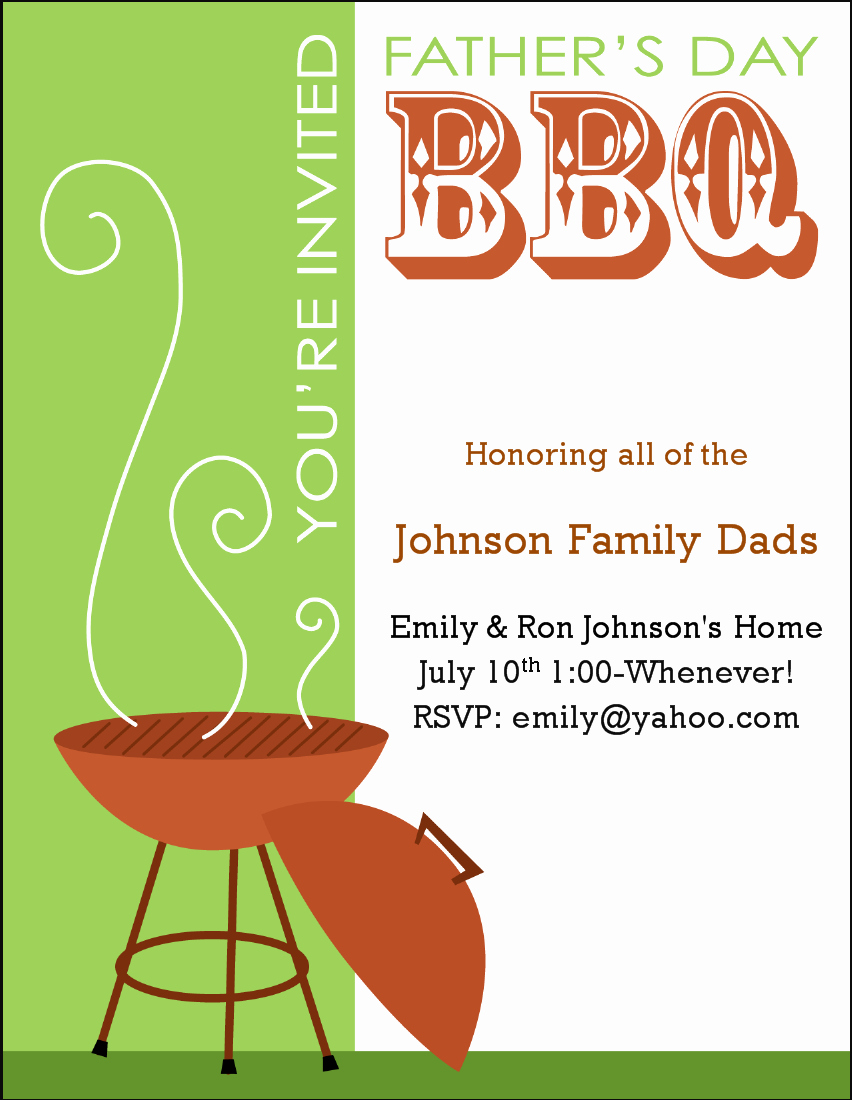 Bbq Party Invitation Templates Free Lovely 7 Best Of Free Printable Bbq Invitation Flyer Bbq