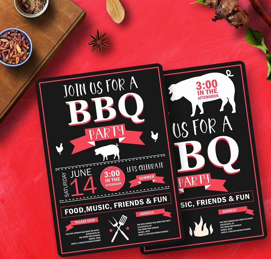 Bbq Party Invitation Templates Free New 19 Free Invitation Templates Wedding Birthday Dinner