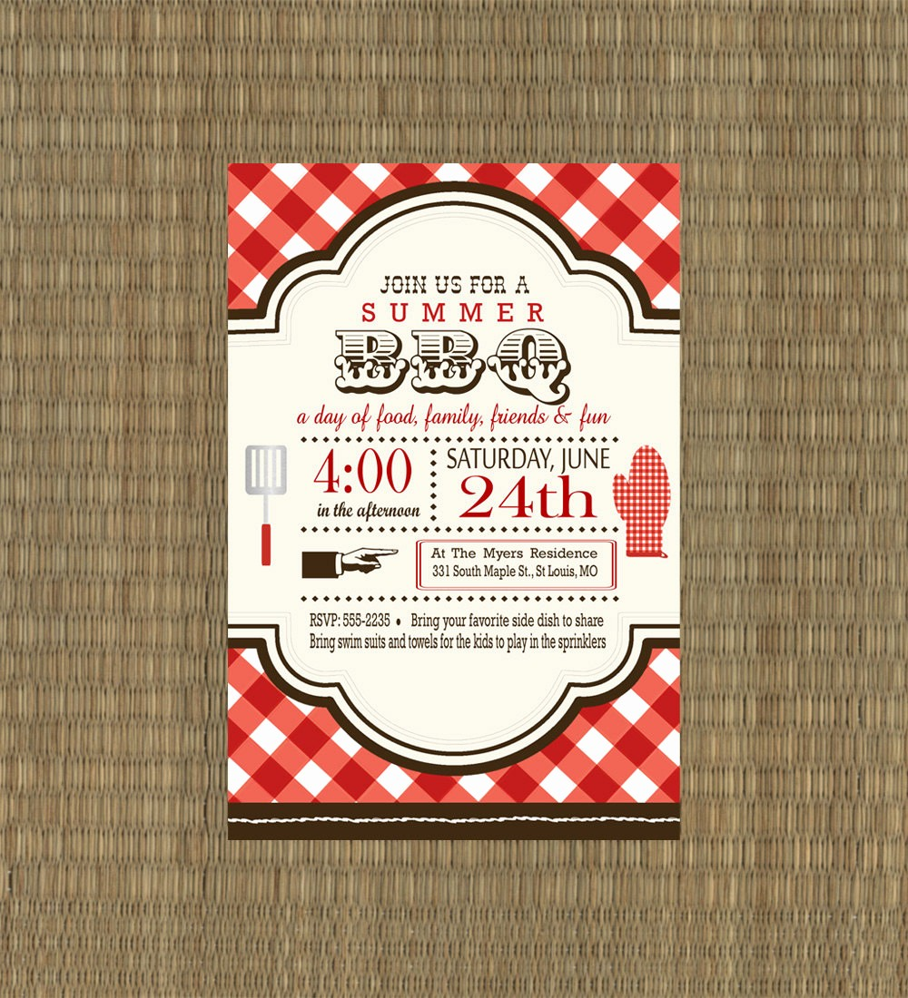 Bbq Party Invitation Templates Free New 8 Best Of Summer Bbq Invitation Printable Summer