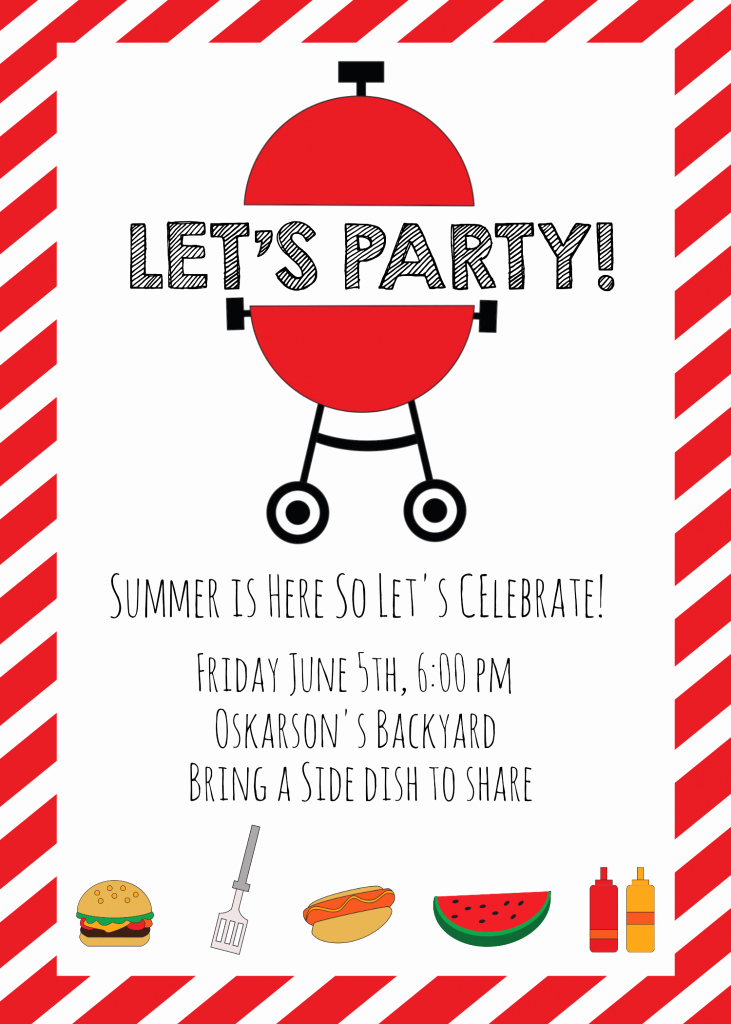 Bbq Party Invitation Templates Free New Summer Bbq Invitations and Ideas