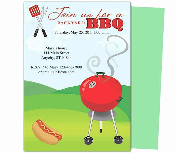Bbq Party Invitation Templates Free Unique Birthday Bbq Grillin Party Templates Design Layout Easy