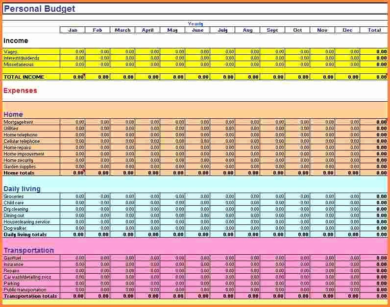 Best Budget Excel Template 2016 Awesome 8 Best Home Bud Spreadsheet