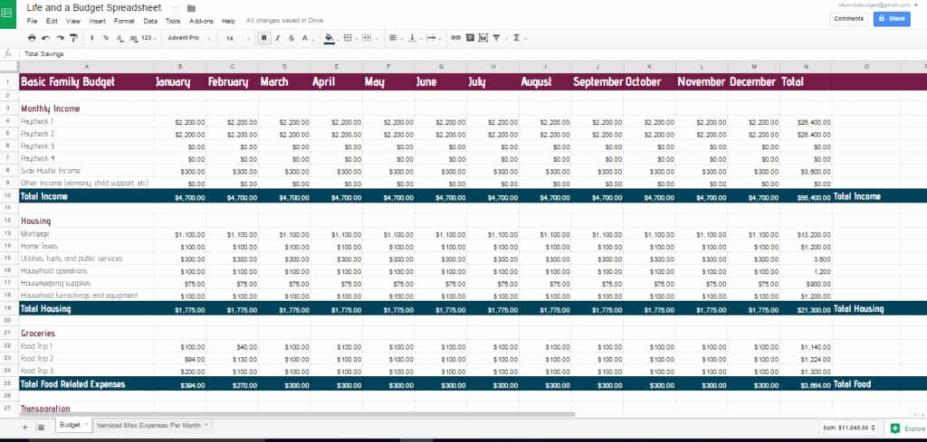 Best Budget Excel Template 2016 Beautiful Free Bud Spreadsheet Template Life and A Bud