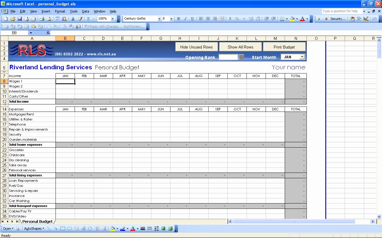 Best Budget Excel Template 2016 Fresh Personal Bud Template