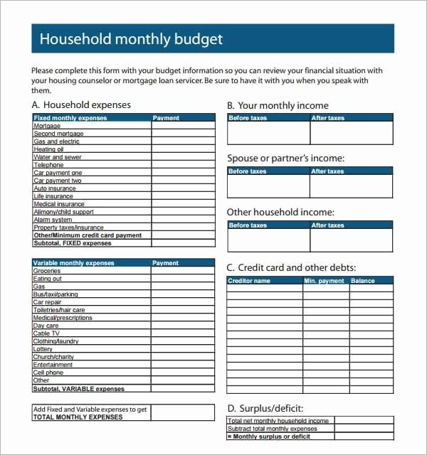 Best Budget Excel Template 2016 Lovely 8 House Hold Bud Spreadsheet Templates Excel Templates