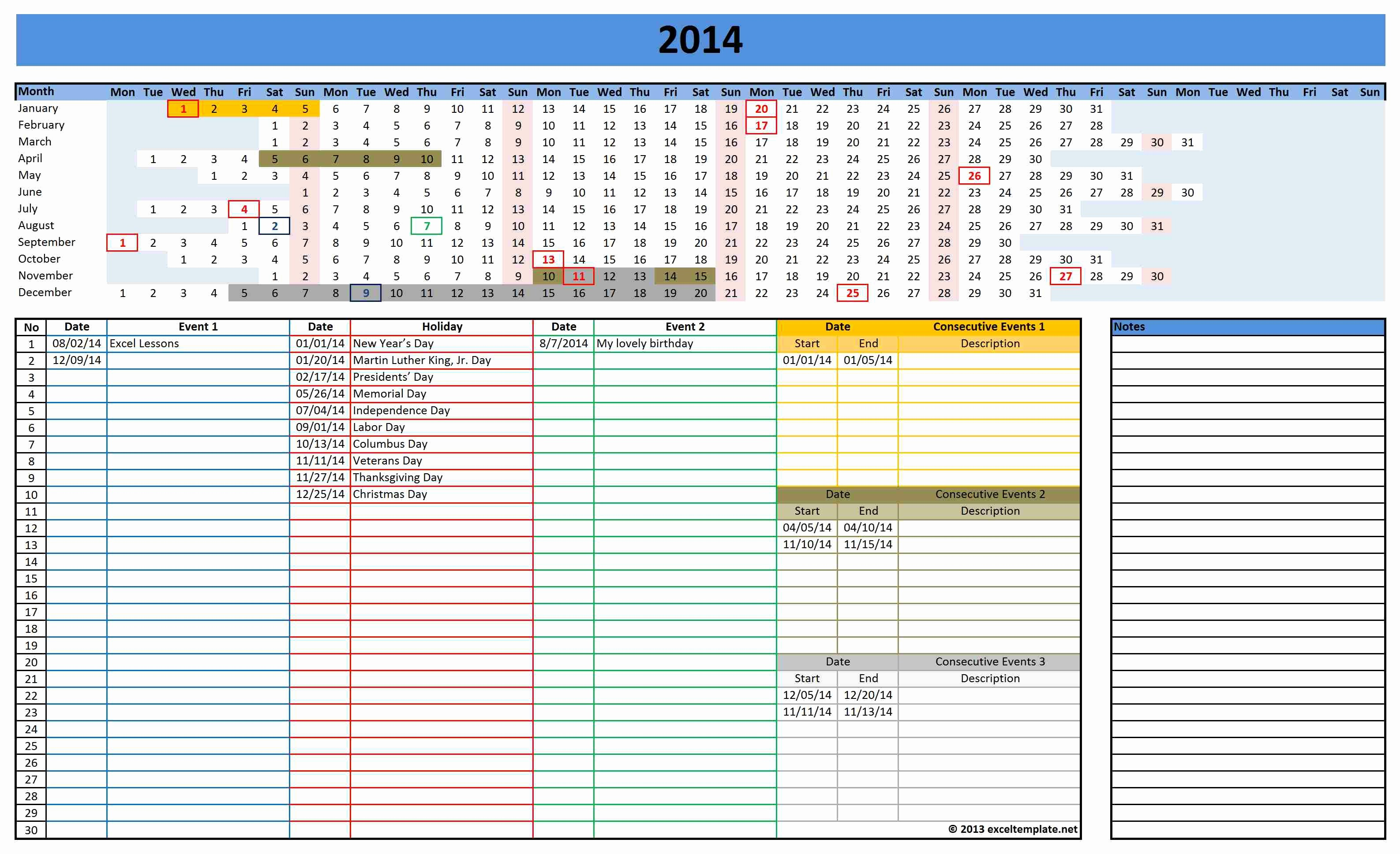 Best Budget Excel Template 2016 Luxury Excel Calendar Templates