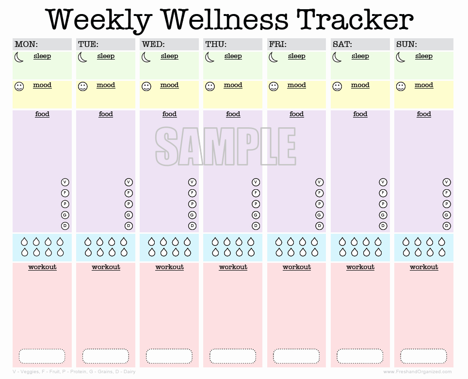 Best Food and Exercise Journal Best Of Weekly Wellness Tracker Activity Log Sleep Diary Food