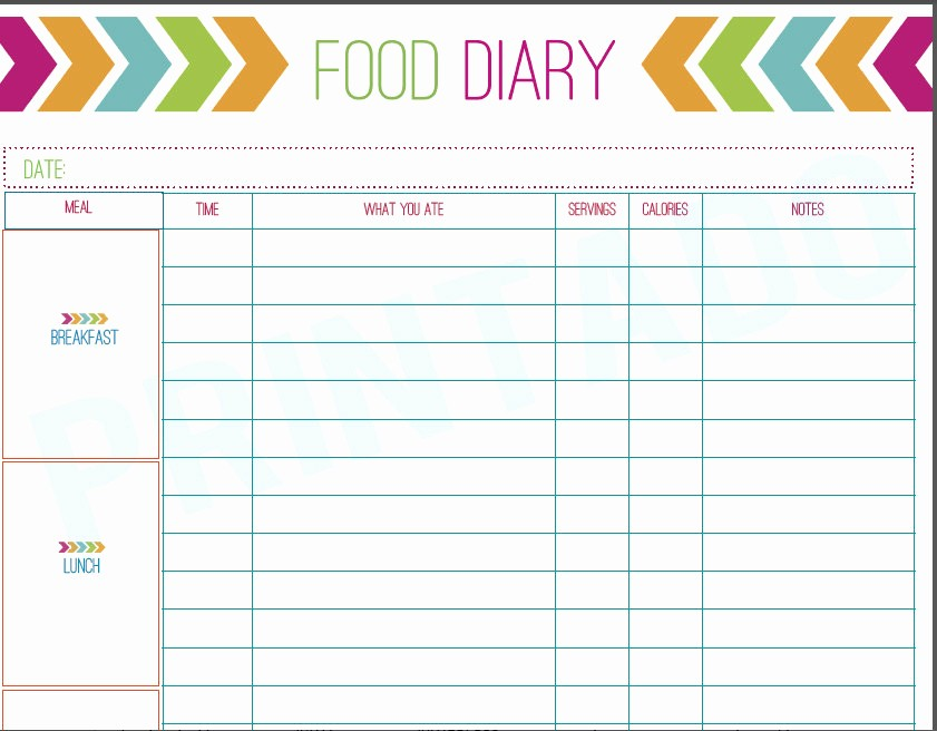 Best Food and Exercise Journal Inspirational 8 Best Of Free Printable Diet Journal Free