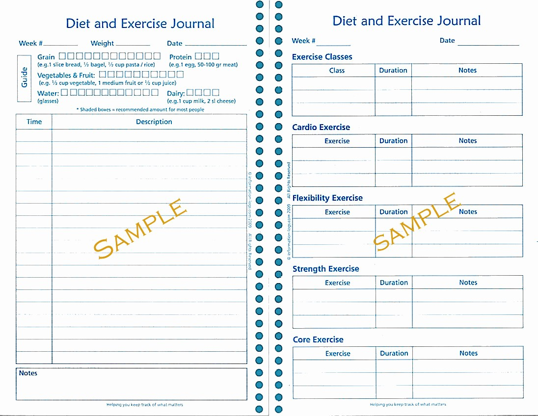 Best Food and Exercise Journal Inspirational Diet and Exercise Journal