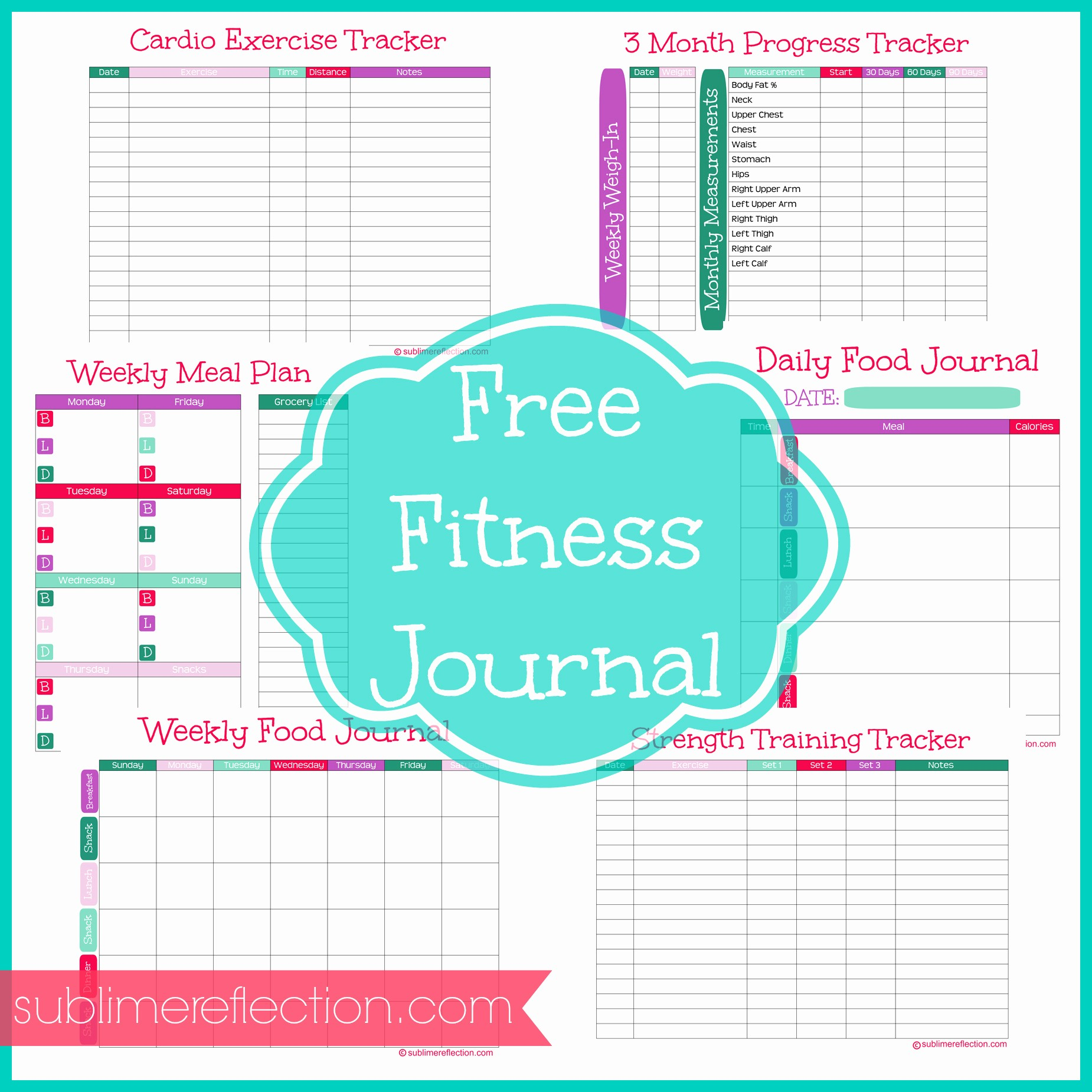 Best Food and Exercise Journal Inspirational Free Downloadable Fitness Journal Sublime Reflection