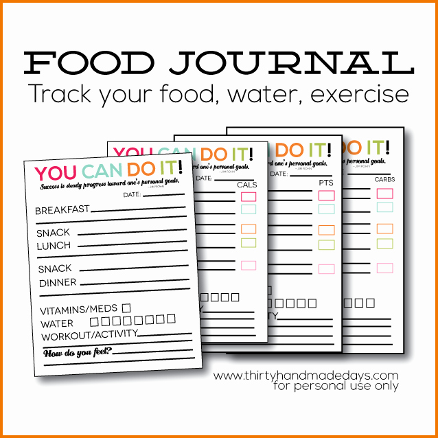 Best Food and Exercise Journal Luxury 7 Food and Exercise Journal