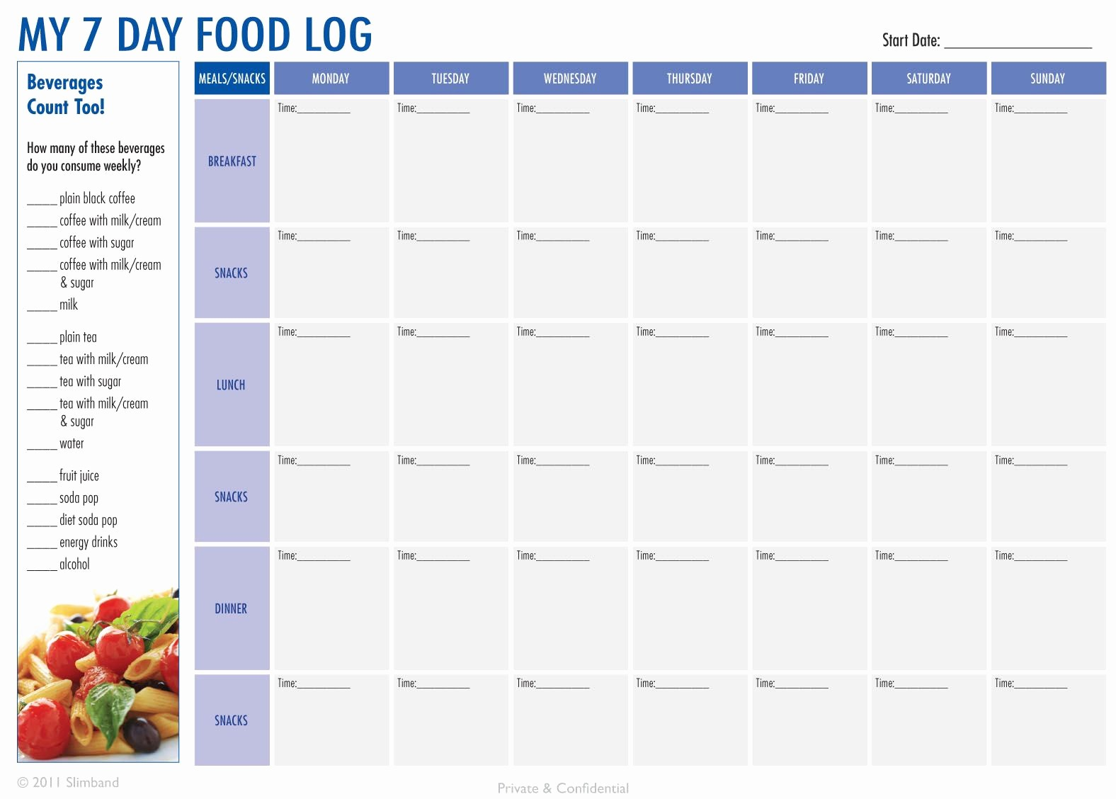 Best Food and Exercise Journal Luxury Create A 7 Day Food Log Download the Pdf at