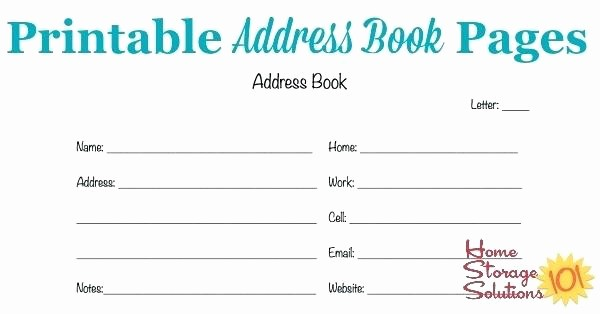 Best Free Online Address Book Lovely Address Book Template – Worldbestcatfo