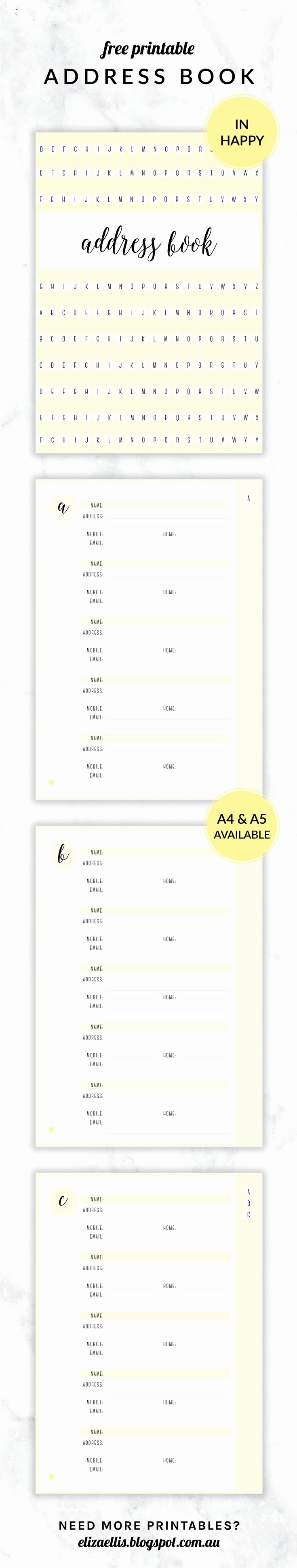 Best Free Online Address Book Luxury 20 Best Images About Printables On Pinterest