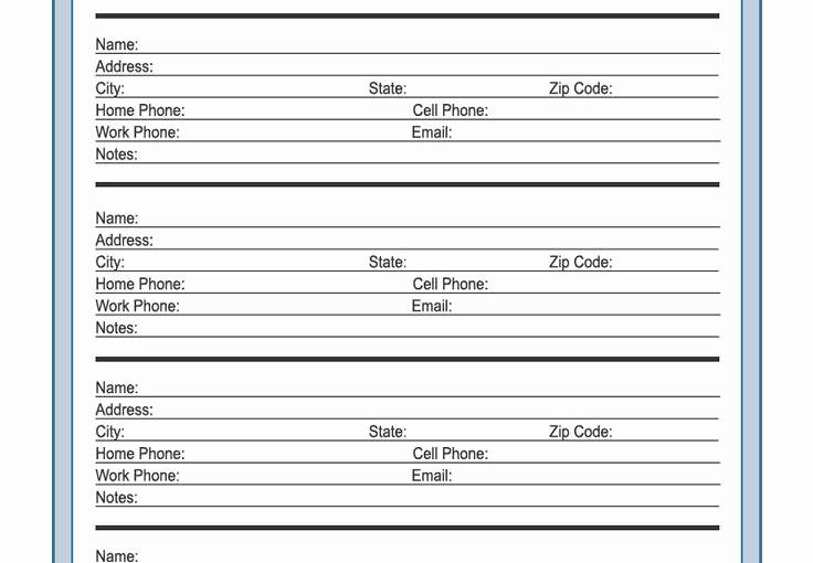 Best Free Online Address Book Luxury Free Telephone Address Book Template – Free Template Design
