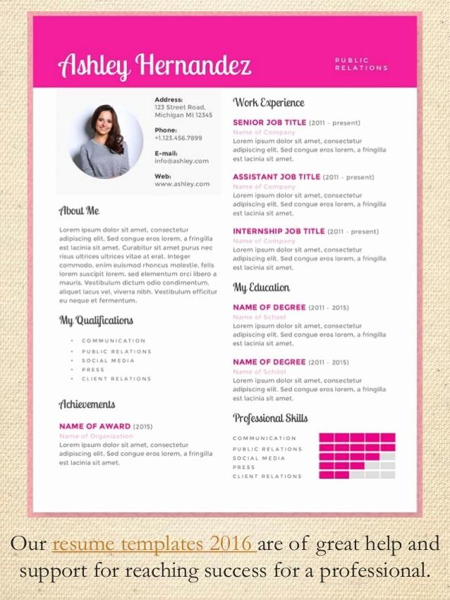 Best Free Resume Templates 2016 Elegant 50 Resume Samples