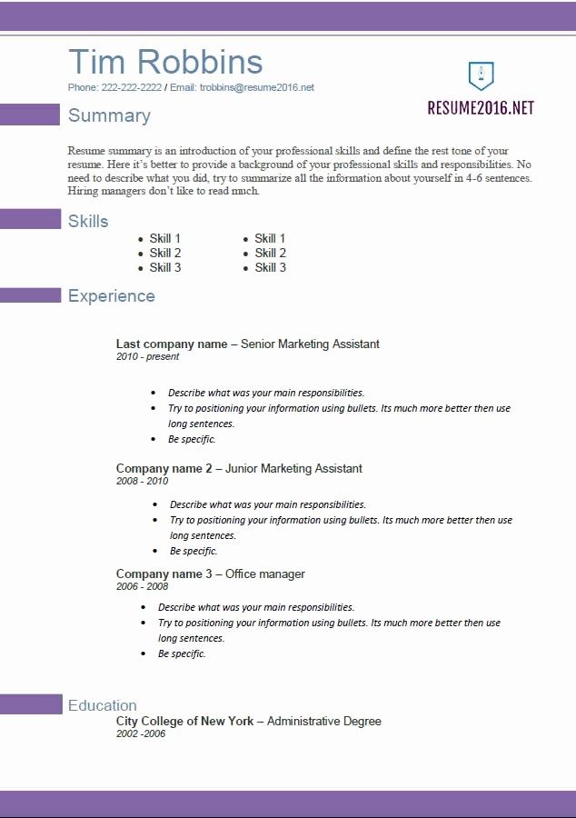 Best Free Resume Templates 2016 Elegant Resume Templates 2016 • which One Should You Choose