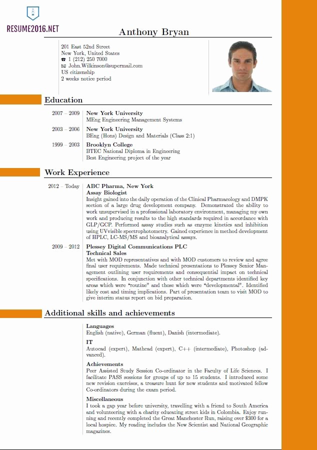 Best Free Resume Templates 2016 Lovely Best Resume format 2016 which One to Choose In 2016