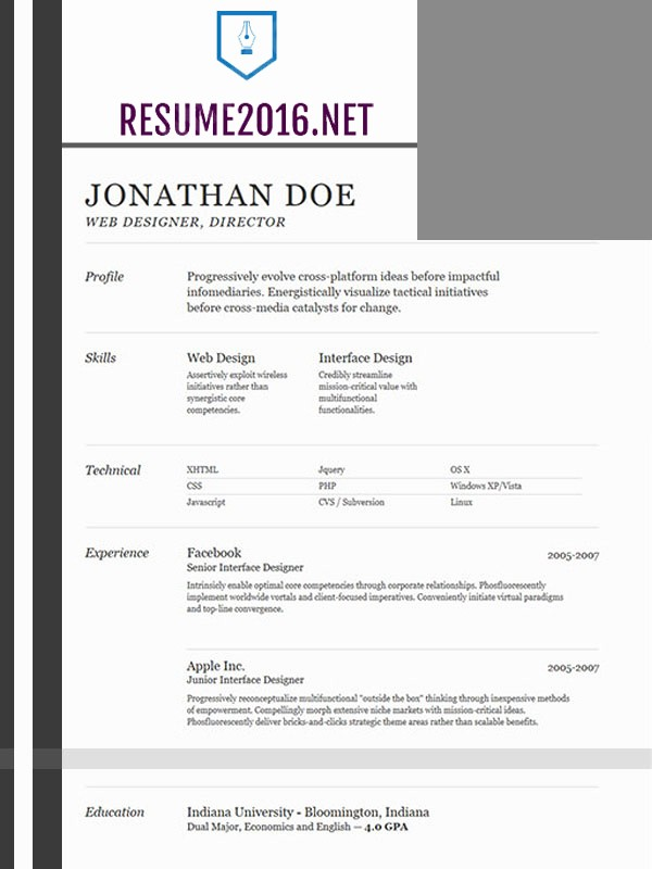 Best Free Resume Templates 2016 New Best Resume Template 2016 that Wins