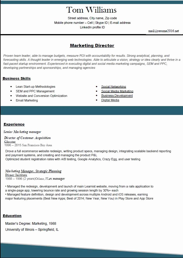 Best Free Resume Templates 2016 New Resume format 2016 12 Free to Word Templates