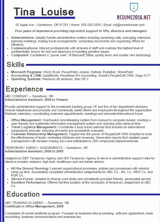 Best Free Resume Templates 2016 Unique Best Sample Resume 2016