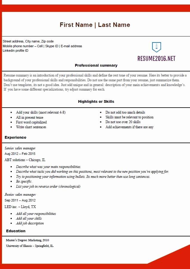 Best Free Resume Templates 2016 Unique Free Resume Templates 2016