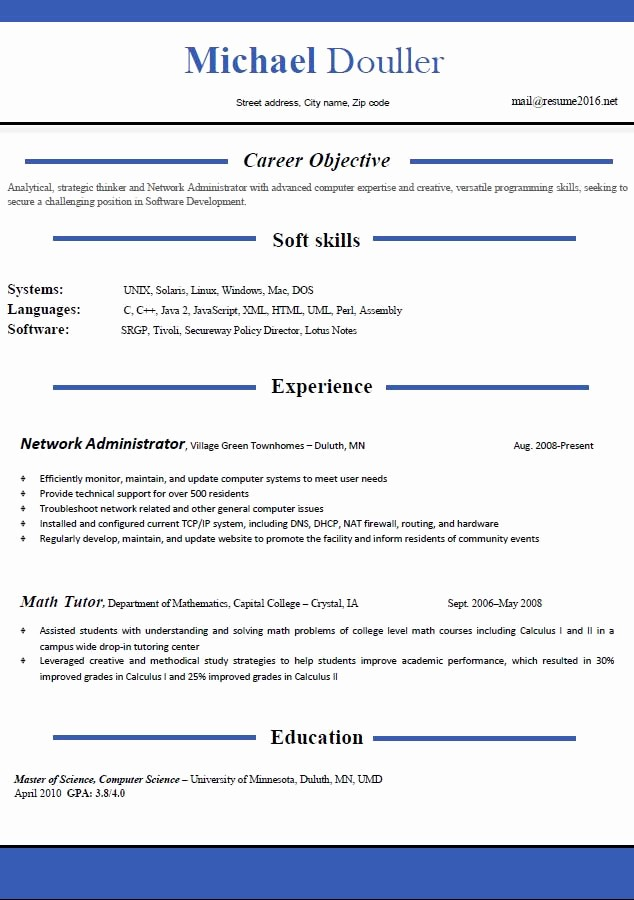 Best Free Resume Templates 2016 Unique Resume format 2016 12 Free to Word Templates