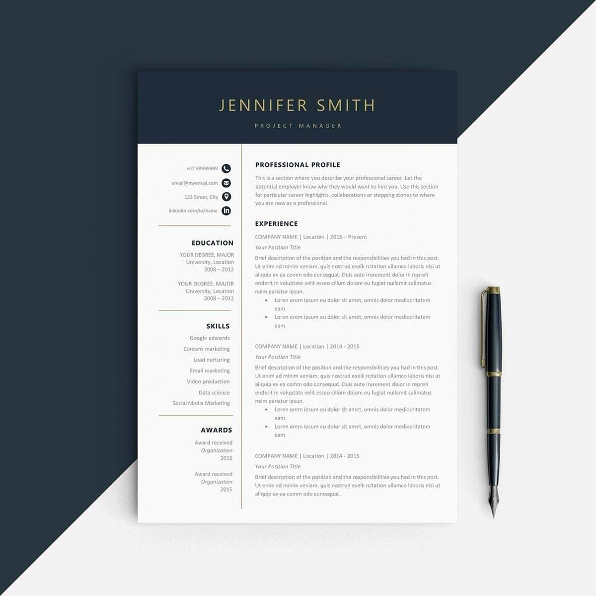 Best Free Word Resume Templates Beautiful Best Resume Templates 15 Examples to Download & Use Right