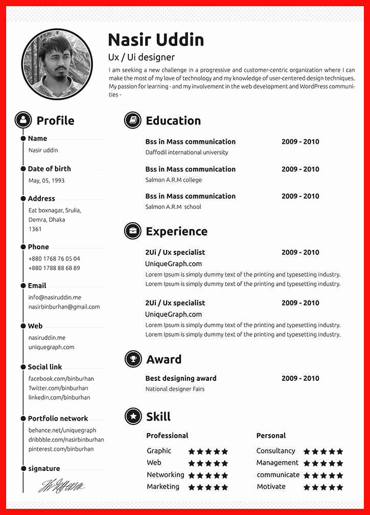 Best Free Word Resume Templates Elegant Impressive Resume Samples