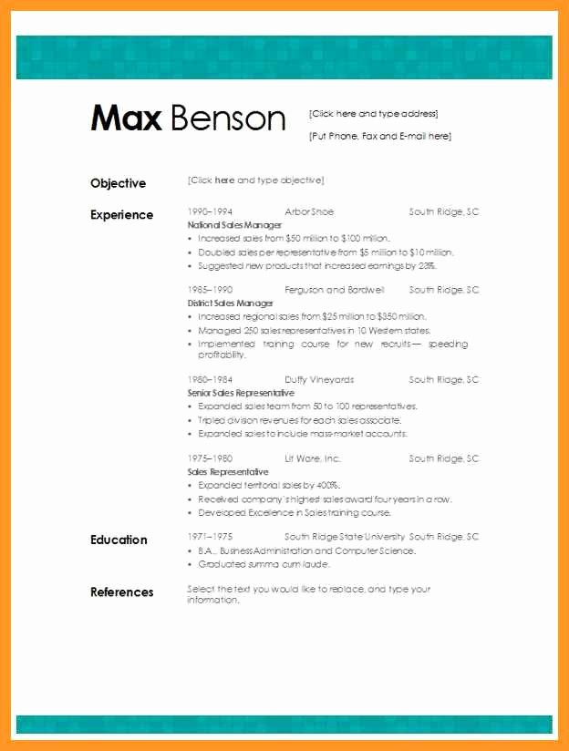 Best Free Word Resume Templates Lovely Best Resume Template Microsoft Word