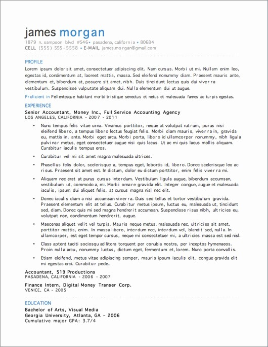 Best Free Word Resume Templates New 12 Resume Templates for Microsoft Word Free Download