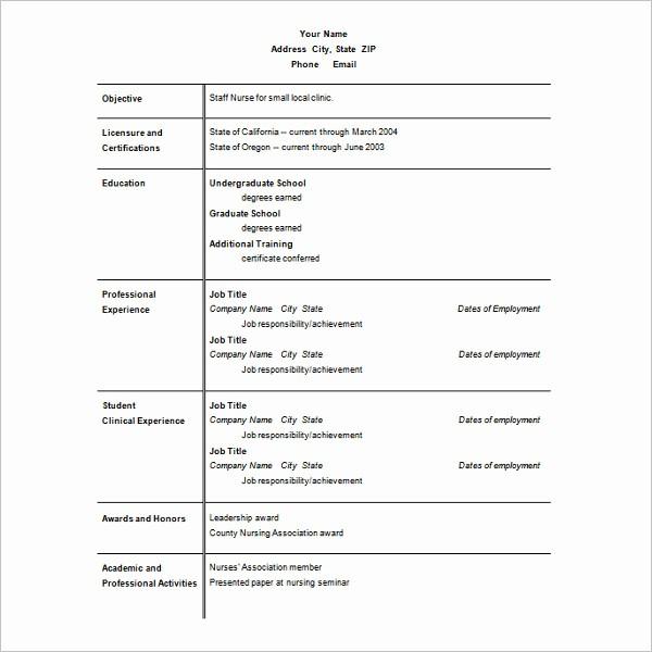 Best Ms Word Resume Template Beautiful Resume Templates for Microsoft Word Free Templates