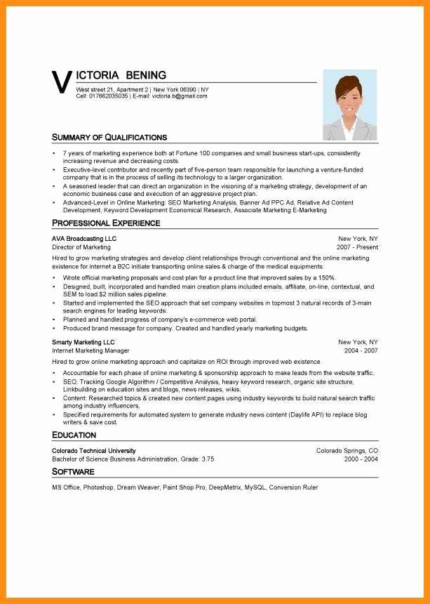 Best Ms Word Resume Template Luxury 8 Curriculum Vitae Templates Word